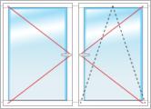 Двухстворчатое с поворотно-откидной и ондой поворотной